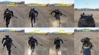 MGSV Phantom Pain - Run Speed Comparison Metal Gear Solid 5
