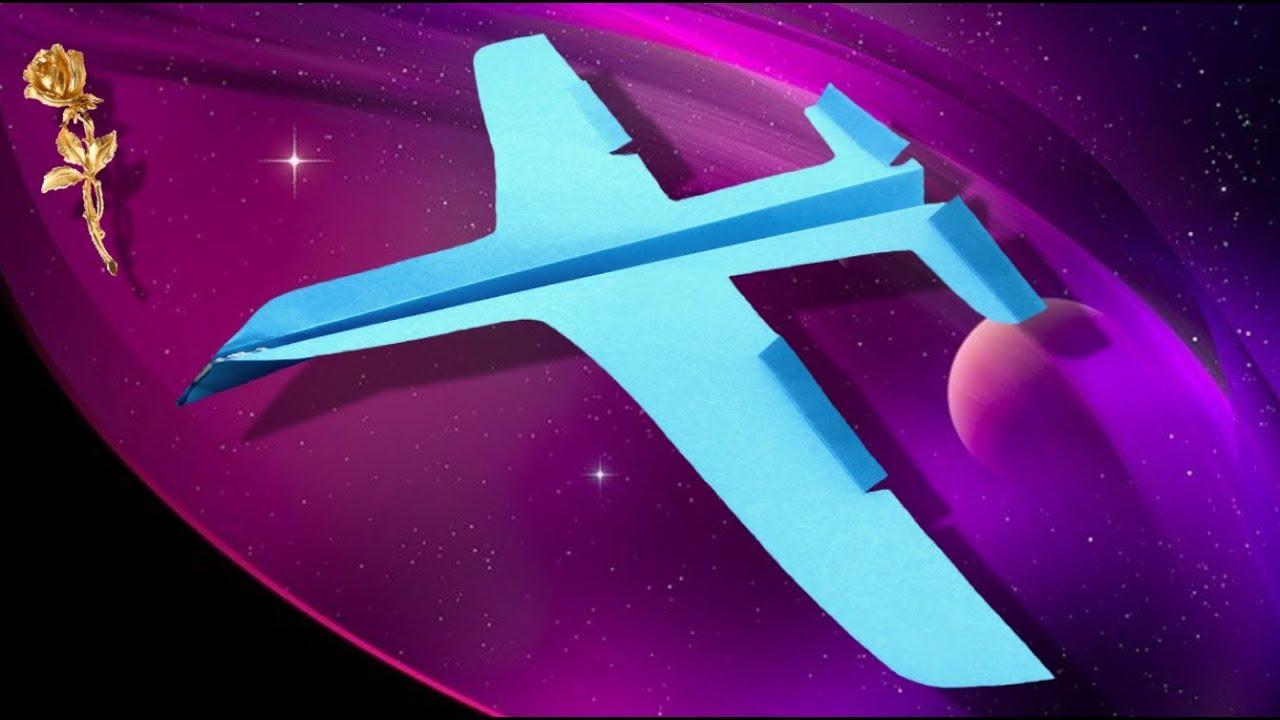 Avion Découpé En Papier Qui Vole Bien