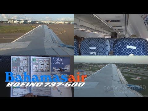 Bahamasair | Full Evening Flight | MYNN-KFLL | Boeing 737-500 | C6-BFC