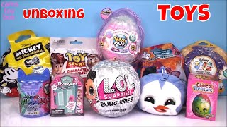 LOL BLING PIKMI Flips Series Surprise Dolls Disney Doorables PJ MASKS SHopkins Toys Unboxing Egg
