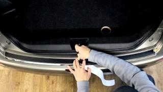 Наклейка на бампер для Nissan Note (Ниссан Ноут)
