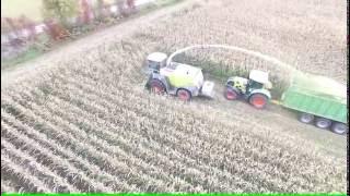 Claas ajosilppuri maissipellolla Kiuruvedellä  23.9.2016
