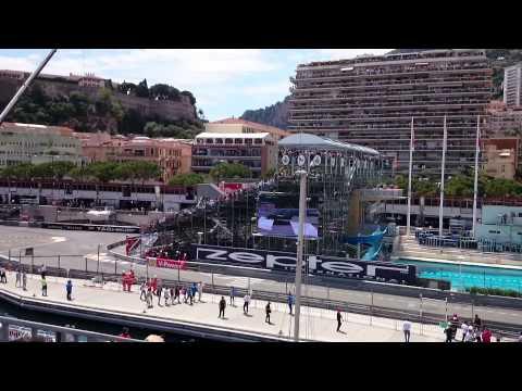GP Monaco F1 2015 - Start and 1st Lap (Grandstand O, pool complex)