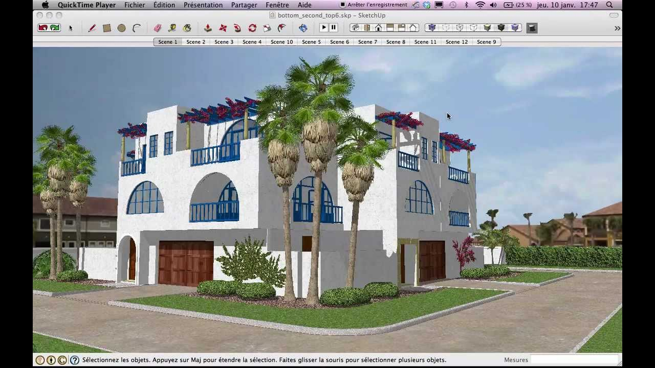 pr sentation logiciel google sketchup 8 par youtube. Black Bedroom Furniture Sets. Home Design Ideas
