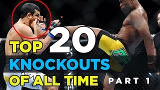 Top 20 Greatest MMA Highlights of All Time | Part 1