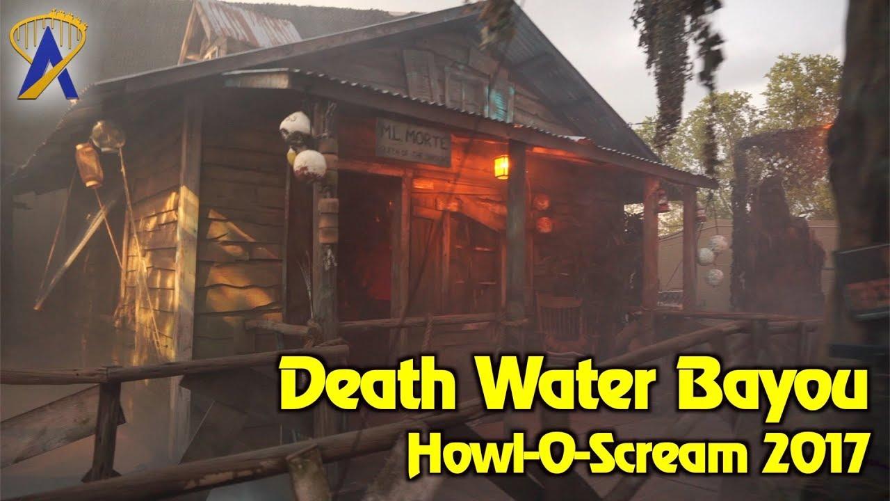 Death Water Bayou At Howl O Scream 2017 Busch Gardens Tampa Bay Youtube