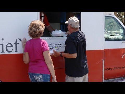 Red Cross delivering hot meals and hope in Naples Florida after Hurricane Irma