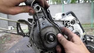 Замена шестерни маслонасоса двигателя alpha delta mustang