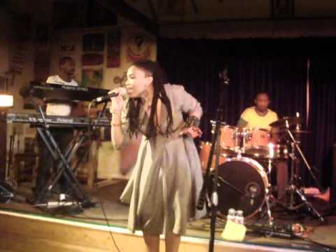 Nkulee Dube (daughter of South Africa's Lucky Dube) performing live at Ashkenaz  - July 23 2011 (1)