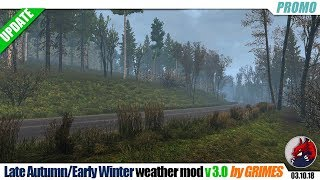 """[""""Euro Truck Simulator 2"""", """"mods"""", """"weather mod"""", """"Late Autumn Early Winter"""", """"by GRIMES""""]"""