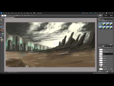 Steel and Stone | Digital Landscape Speedpainting and Commentary