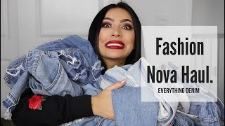 Fashion Nova Haul - EVERYTHING Denim.