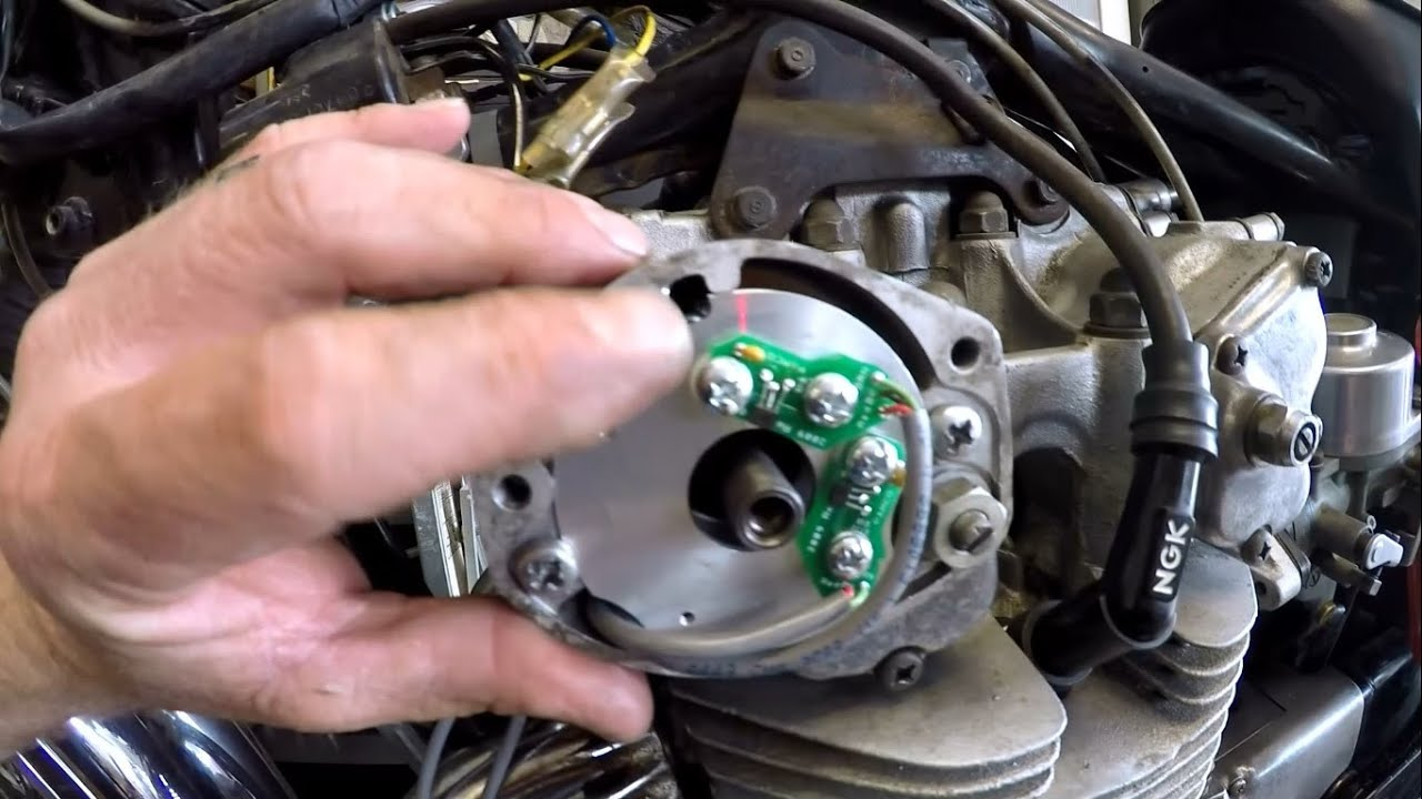 Triumph T120 Wiring Diagram Fitting Pamco Electronic Ignition To A Cb450 Youtube
