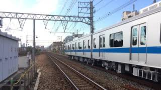 甲種輸送 DE10 1561号機+小田急3000形(中間車) 甲南山手駅通過