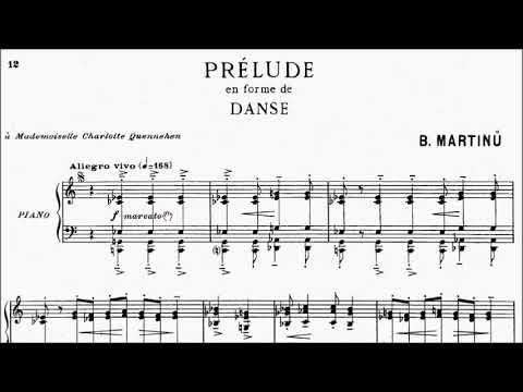 ABRSM Piano 2019-2020 Grade 8 C:4 C4 Martinu Prelude en forme de Danse H.181 No.4 Sheet Music