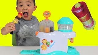 Making Icy Pop Fruity Hoops Factory Fun DIY Yummy Kids Popsicle Maker Ckn Toys thumbnail