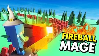 FIREBALL MAGE IN ANCIENT WARFARE TOWER DEFENSE! (Ancient Warfare 2 Tower Defense Funny Gameplay)