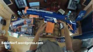 The Basic Nerf N-Strike Elite Retaliator Unboxing & Small Firing Test (1st on Youtube)