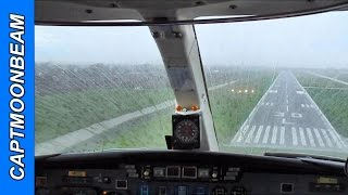 Cessna Citation II Landing in RAIN SHOWERS!