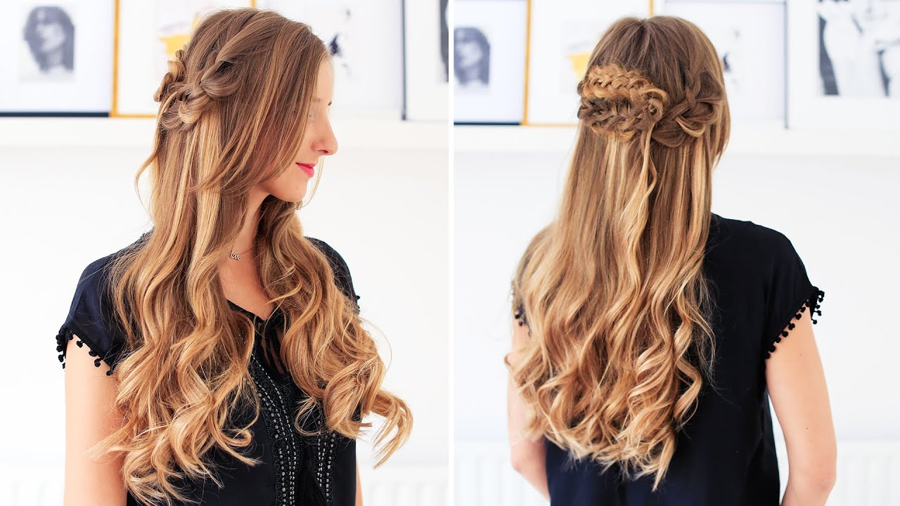Simple hairstyle for long hair for school