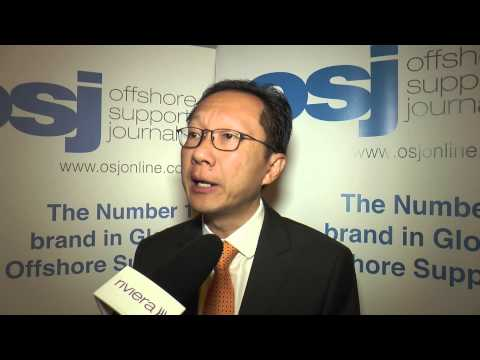 Eddy Logam PT Logindo Samudramakmur speaking at the Asian Offshore Support Journal Conference 2014