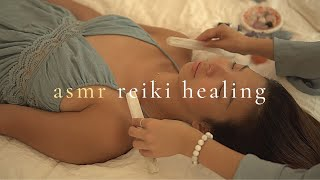 ASMR Reiki Healing Massage w/ Scalp Massage + Chakra Crystal Healing For Sleep