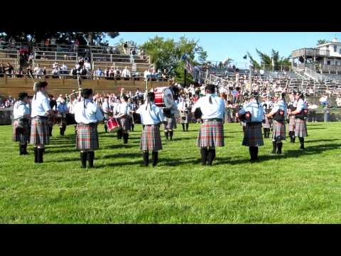 New York Metro Pipe Band, Colonial Highland Games, 2012.