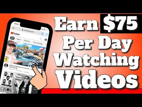Earn $75.00 Per Hour Watching Videos! (New Website) | Earn Money Online 2021