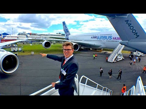 My Day at Farnborough International Airshow 2016 | Qatar Exec. + A380, A350, G650...