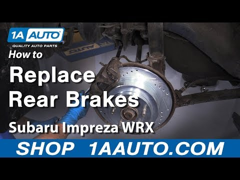 How to Replace Rear Brakes 2002-05 Subaru WRX