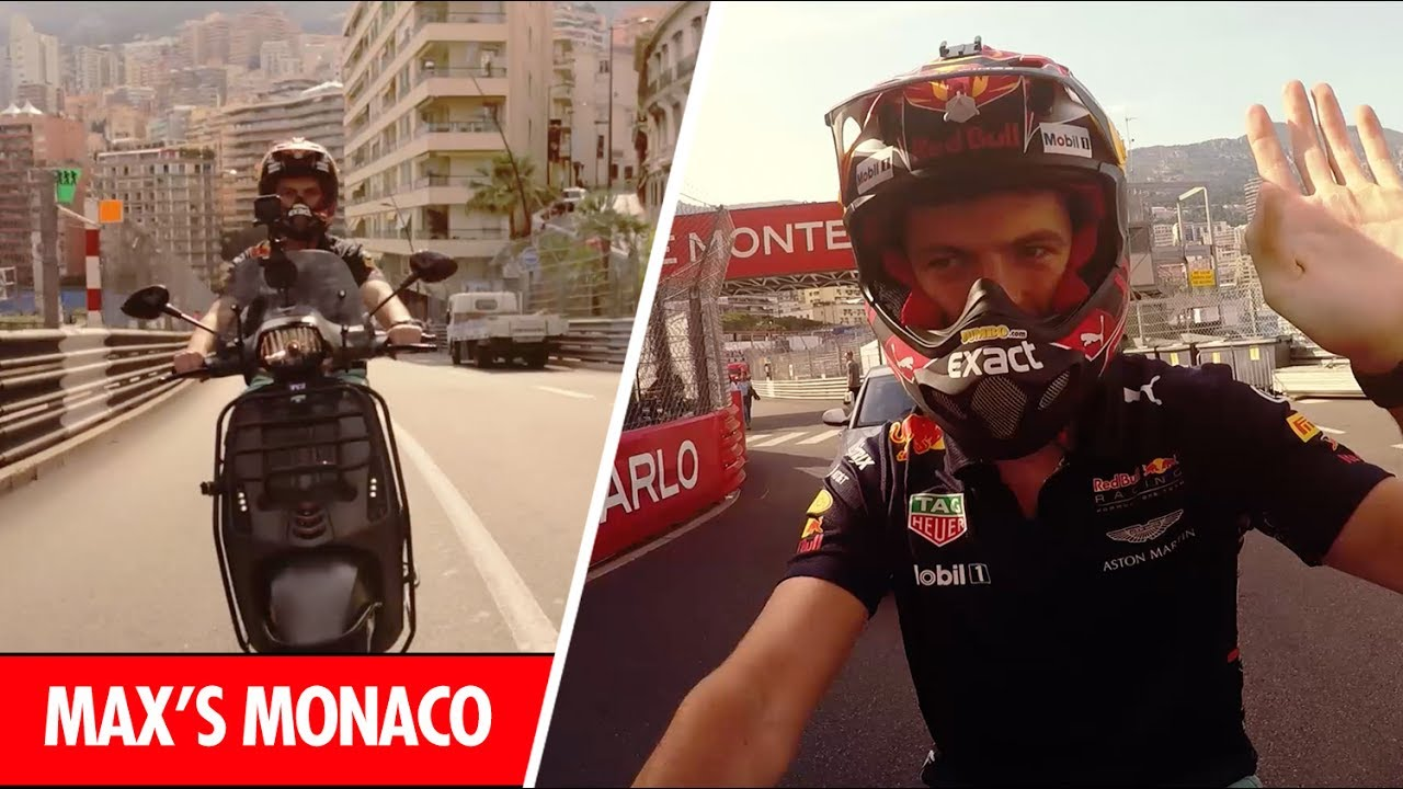 onboard with max verstappen as he laps the monaco grand prix on a scooter youtube. Black Bedroom Furniture Sets. Home Design Ideas