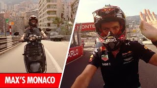 Onboard with Max Verstappen as he laps the Monaco Grand Prix on a scooter!