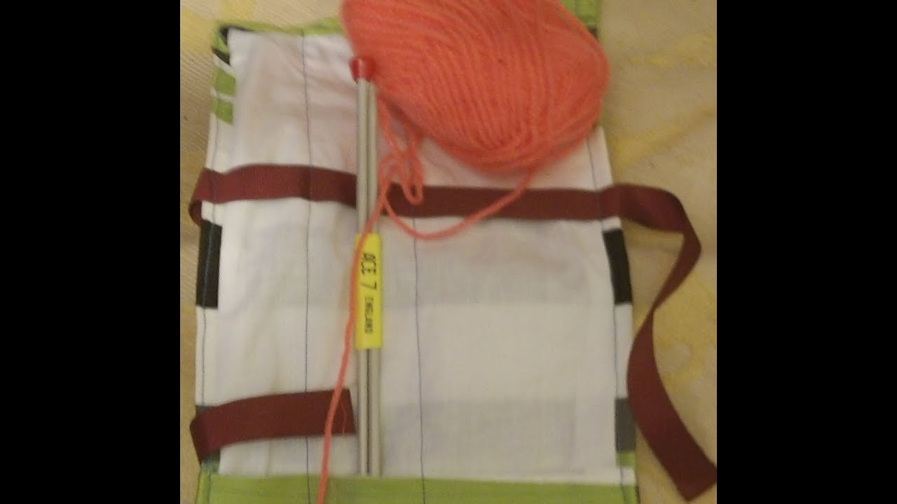 knitting needle roll easy sew, first sew. Sewn on sewing machine ...