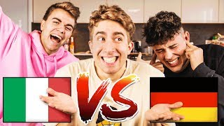 Italiener lernt DEUTSCH ohne AKZENT! ft. Crispyrob & Simon Will | Falco