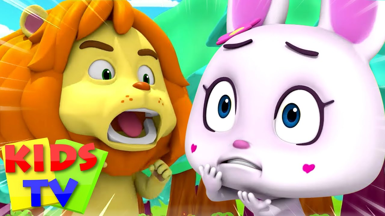 Lion and the Rabbit Story | Bedtime Stories for Kids | Pretend and Play Song | Loco Nuts | Kids Tv