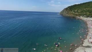 Абрау Дюрсо пляж красивый вид с квадрокоптера