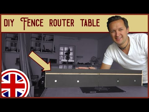 Fence for the router table with an integrated vacuum clamp   DIY Workshop build up