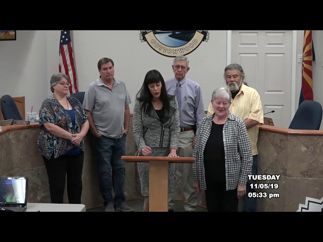 Cottonwood City Council Presentations, Awards, and Proclamations Nov 5 2019