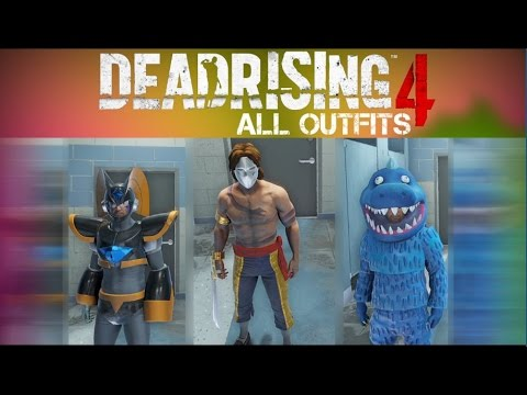 Dead Rising 4 All Outfits With Gameplay/Showcase