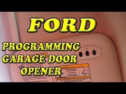 FORD ESCAPE PROGRAMMING GARAGE DOOR OPENER