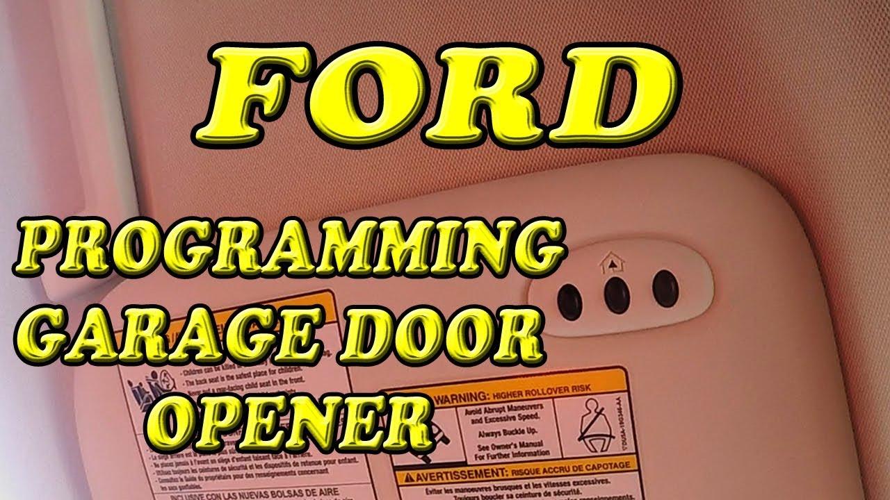 Ford Escape Programming Garage Door Opener Youtube