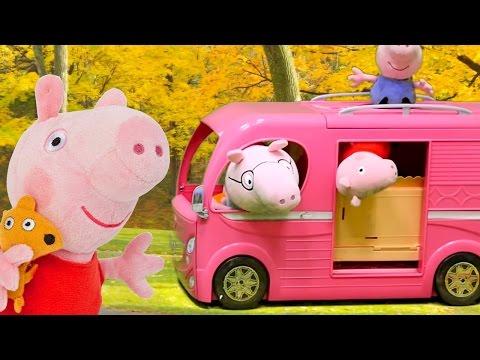 Видео с игрушками: Игры Свинки Пеппы (плюшевые игрушки). Пеппа заболела!
