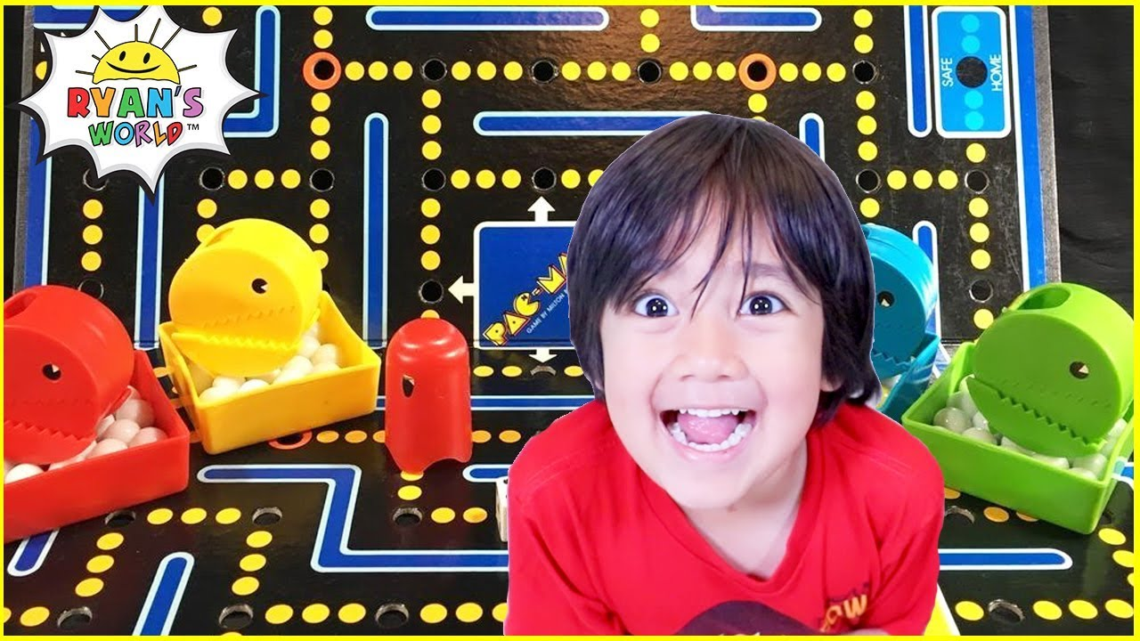 Pac Man Board Game  with Ryans World!!!