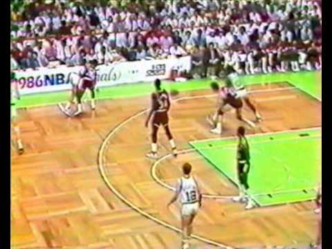 1986 NBA Finals Game 2 Celtics vs Rockets (2nd half at the Garden) PART 2