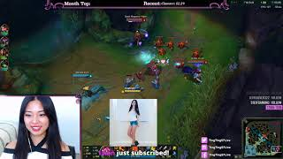 Playing some League of Legends... ft. ghost tingting o_O
