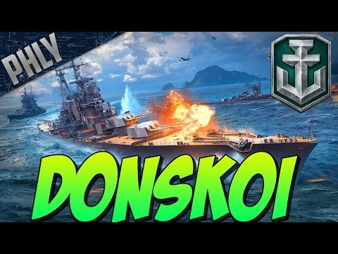 DIMITRI DONSKOI Russian Cruiser Gameplay ( World Of Warships Gameplay)