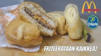 Friteeraustestissä! - Euron Juusto & Banaani