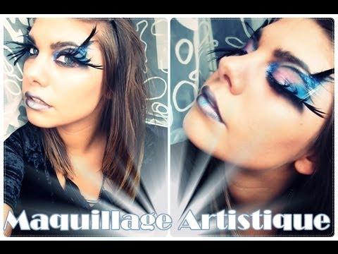 Tutoriel maquillage artistique //☞effet oiseau plume