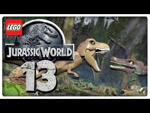 Let's Play LEGO JURASSIC WORLD Part 13: Kirbys in Jurassic Park 3 & T-Rex vs. Spinosaurus