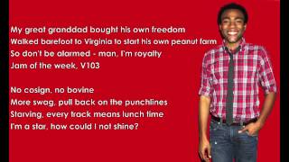 Childish Gambino We Ain 39 t Them with Lyrics HD.mp3